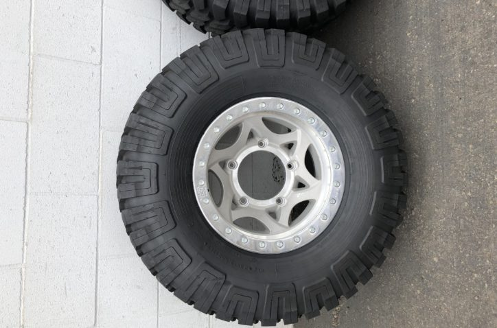6 WALKER EVAN BEADLOCK WHEELS & NEW GOODYEAR WRANGLER RACING TIRES